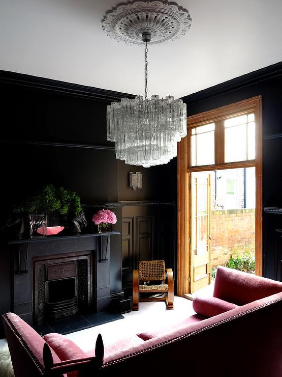 Room Painted Black rooms with black walls - eclectic - living room - farrow & ball