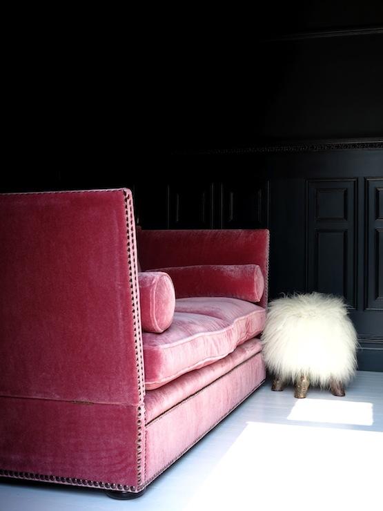 pink velvet sofa - Pink Velvet Sofa