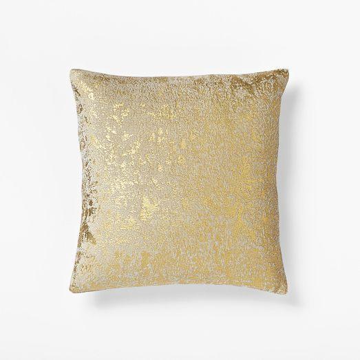 Metallic Silver Texture Pillow Cover