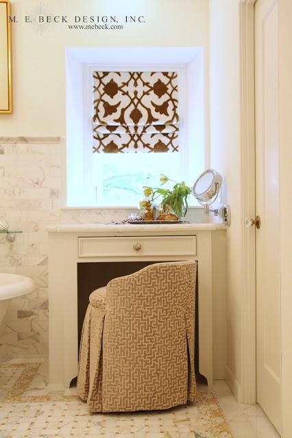Honey Onyx Tiles Transitional Bathroom M E Beck Design