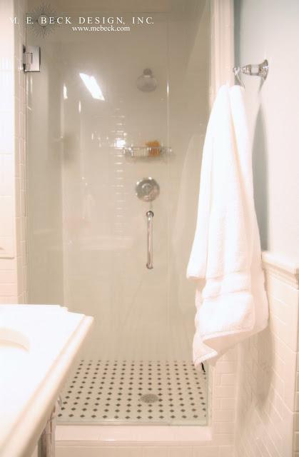 Blue subway tile shower design ideas for Shower stall remodel