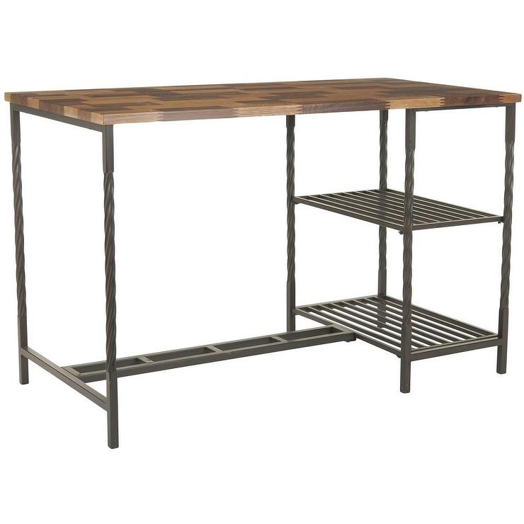 Wood And Metal Teagan Natural Desk