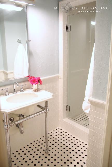 Octagon And Dot Bathroom Floor Tile Design Ideas