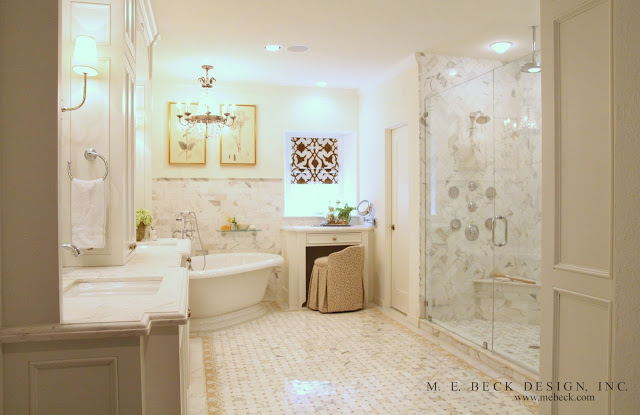 Honey Onyx Tiles Transitional Bathroom M E Beck Design