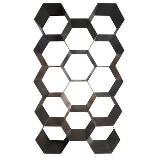 Nate Berkus Black Metal Honeycomb Wall Art