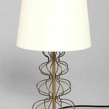 Magical Thinking Gold Geo Wire Lamp