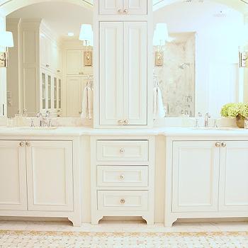 Honey Onyx Basketweave Tiles, Transitional, bathroom, M. E. Beck Design