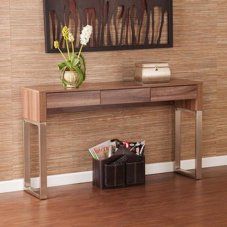 Tremendous Wood Topped U Legs Console Sofa Table Bralicious Painted Fabric Chair Ideas Braliciousco