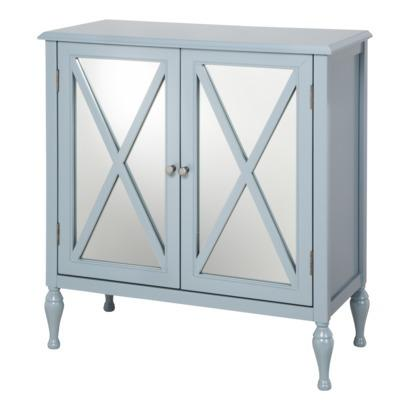 sc 1 st  Decorpad & Hollywood Mirrored Blue Accent Cabinet I Target