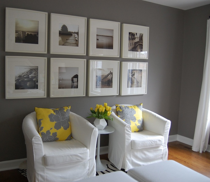 Yellow And Gray Bedroom Transitional Bedroom