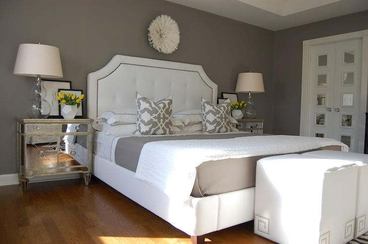 Gray Bedroom - Transitional - bedroom - Benjamin Moore