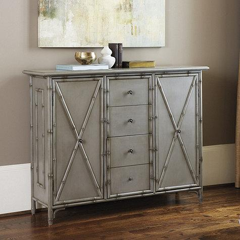 Bianca Gray Faux Bamboo Console