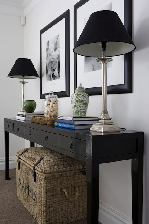 Black Foyer Table : Black console table design ideas