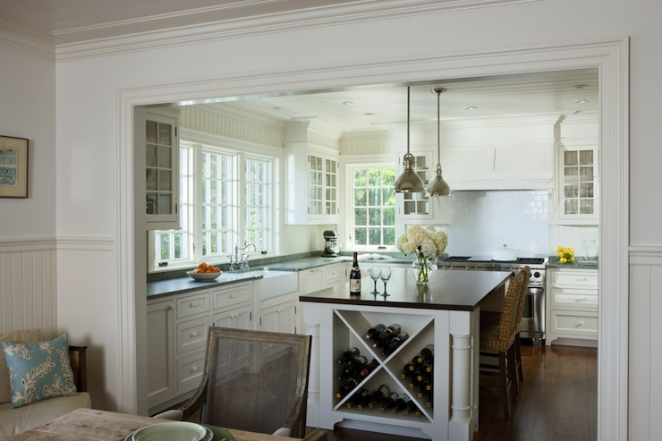Beadboard Kitchen Cabinets Contemporary Kitchen