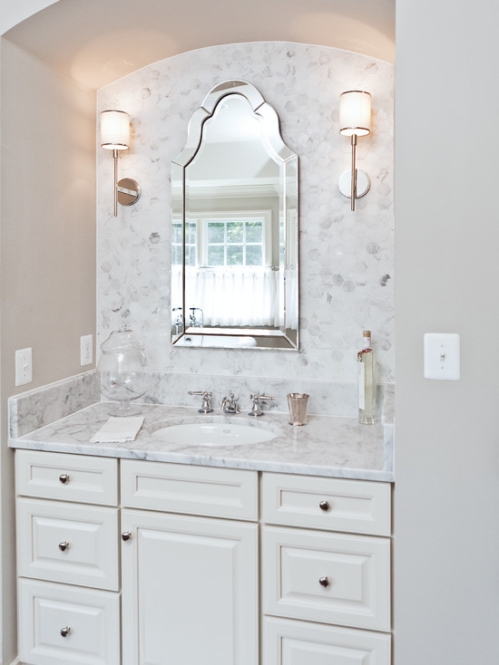 Sink Alcove Transitional Bathroom Benjamin Moore