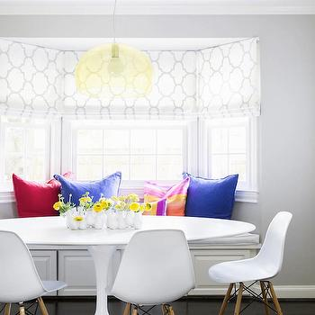 Breakfast Nook Ideas, Contemporary, dining room, Domino Magazine