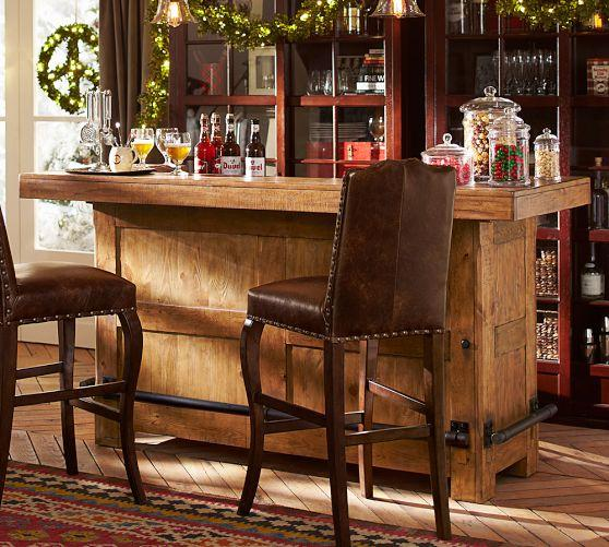 Large Rustic Wood Freestanding Ultimate Bar