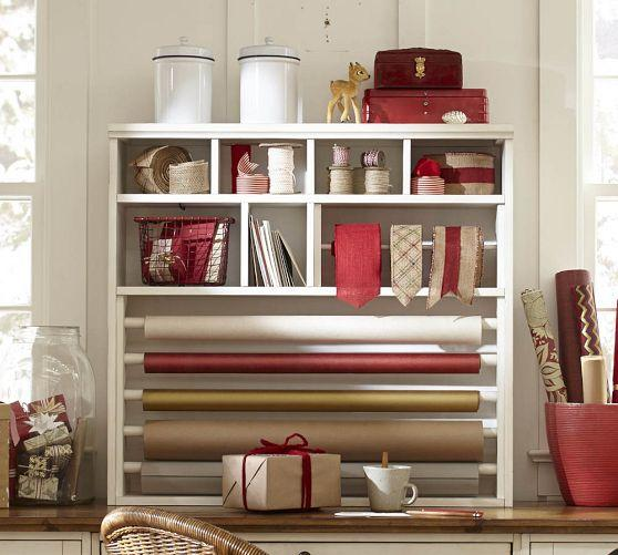 White Wrapping Paper Hutch