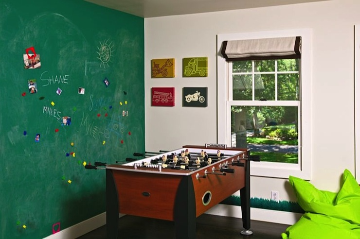 kids game room transitional boy 39 s room melanie morris design. Black Bedroom Furniture Sets. Home Design Ideas