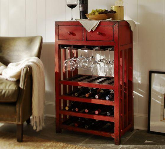 Red Weathered Wine Tower