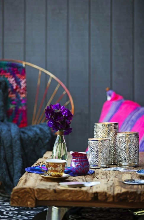 Bohemian Patio Eclectic Living Room Erin Michael