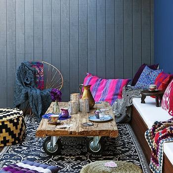 Bohemian Outdoor Space, Eclectic, deck/patio, Erin Michael