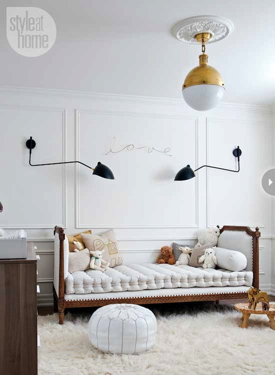 Nursery Daybed Contemporary Nursery Style At Home