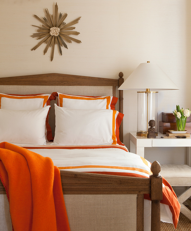 White and orange bedding contemporary bedroom for White and orange bedroom designs