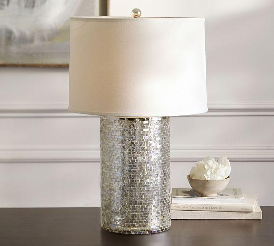 chantal mercury glass mosaic tiles table lamp base - Mercury Glass Table Lamp