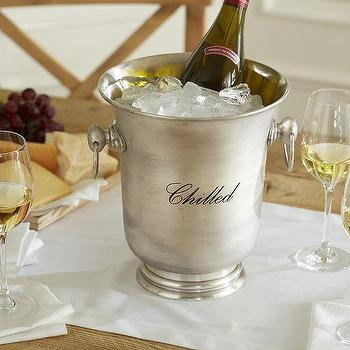 Antique-Silver Wine Cooler, Pottery Barn