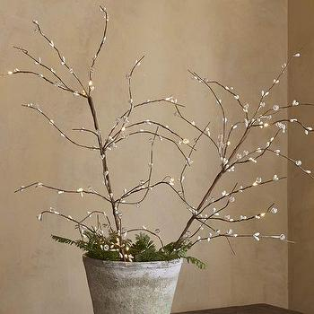 Faux LED Lit White Ice Branch, Pottery Barn
