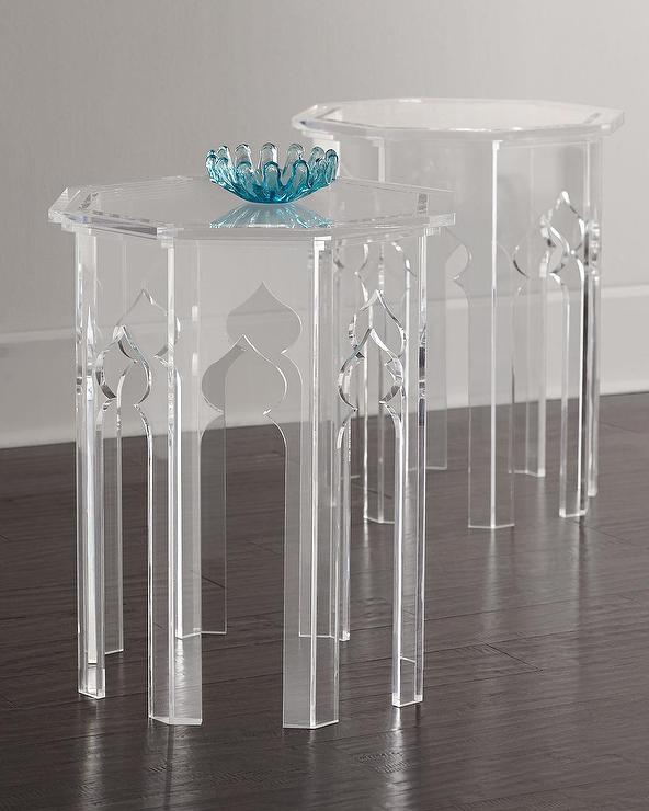 Bernhardt Aiden Acrylic Moroccan Side Table