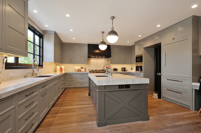Kitchen Ideas Gray extra light gray kitchen cabinets with brass ring hardware