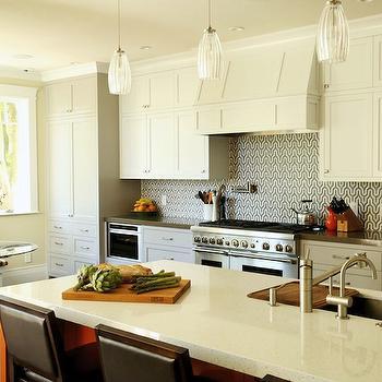 Geometric Backsplash, Contemporary, kitchen, Artistic Designs for Living