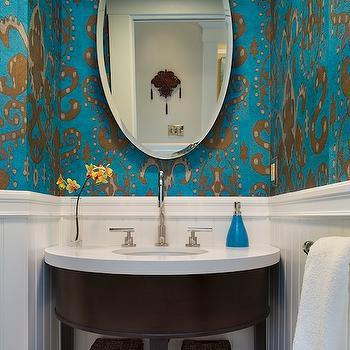 Ikat Wallpaper, Contemporary, bathroom, Artistic Designs for Living