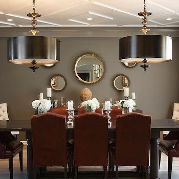 Red And Gray Dining Room Part 33