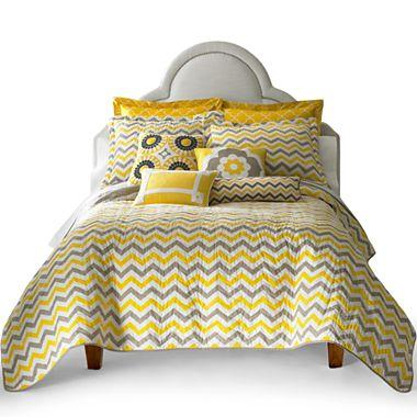 and Gray Chevron Quilt Set and Accessories : chevron quilt bedding - Adamdwight.com