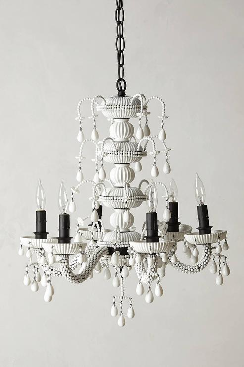 White ornate chandelier achromatic white ornate chandelier aloadofball Choice Image