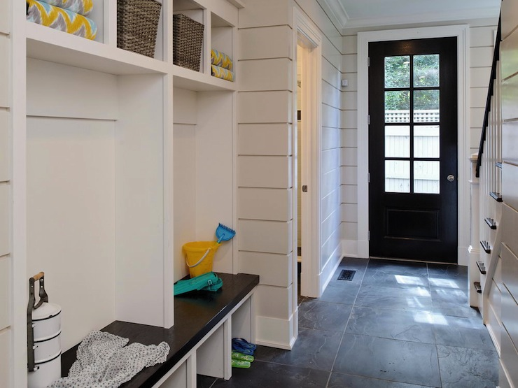 Mudroom Lockers Traditional Laundry Room Blue Water