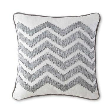 Silver Chevron Decorative Pillow I Jcpenney Inspiration Jcp Decorative Pillows