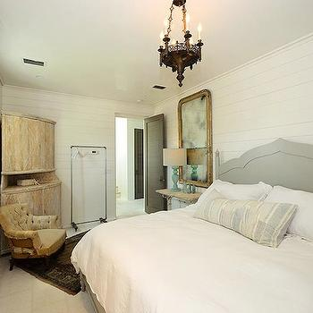 Gray Velvet Headboard, Transitional, bedroom, Alys Beach