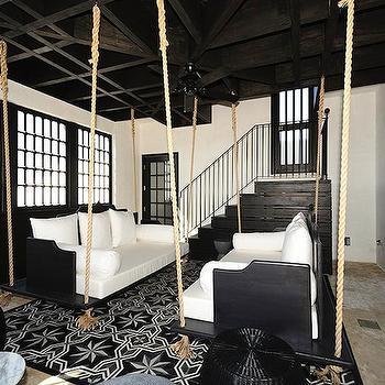 Swinging Sofa, Eclectic, living room, Alys Beach