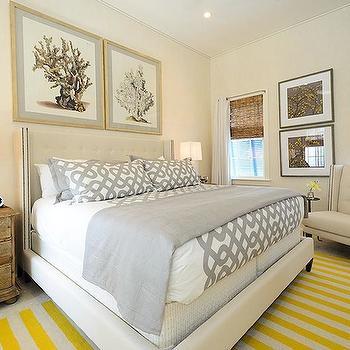 Gray and Yellow Bedroom, Cottage, bedroom, Alys Beach