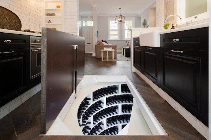 Trap Door Wine Cellar Eclectic Kitchen