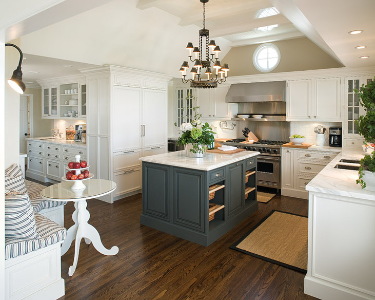 Kitchen Cabinets Vaulted Ceiling kitchen with round vaulted ceiling - transitional - kitchen