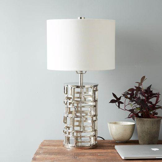 Pico capuchinas geometric nickel table lamp aloadofball