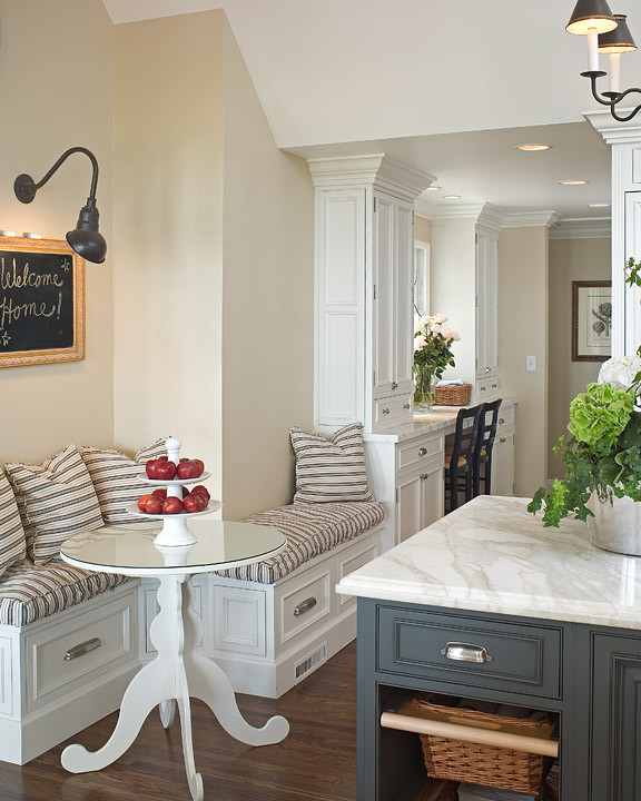 Eat At Kitchen Island: Built In Banquette