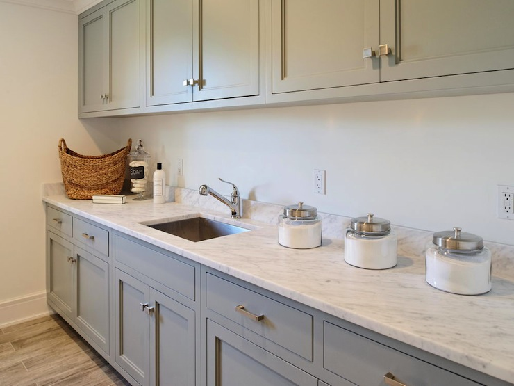 Gray laundry room cabinets design ideas for Cupboards for laundry room