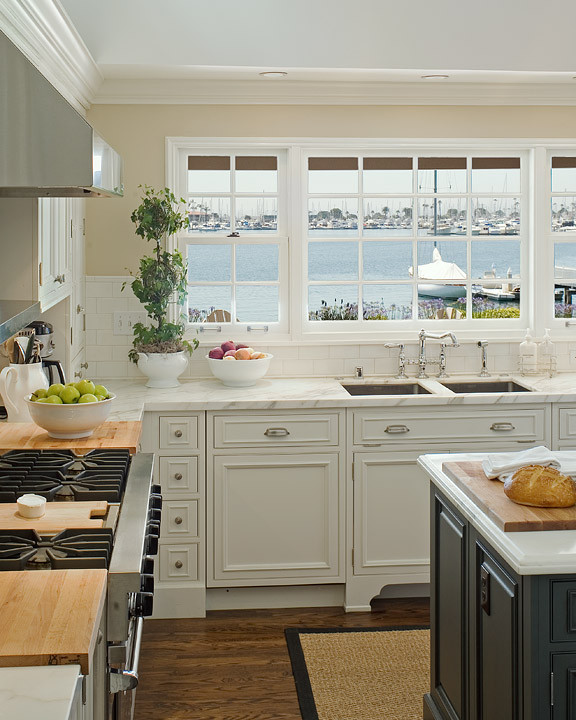Astonishing Double Kitchen Sinks Transitional Kitchen Curtis And Download Free Architecture Designs Embacsunscenecom