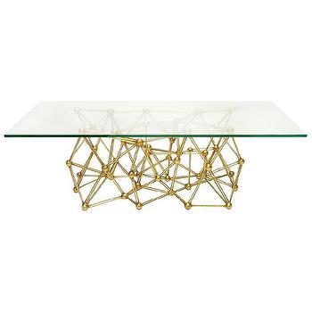 Worlds Away Molecule Gold Leaf Iron Coffee Table I Zinc Door